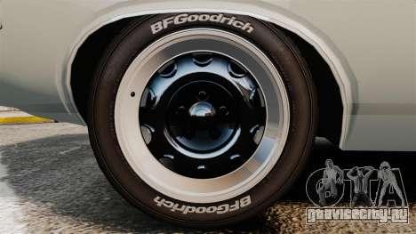 Dodge Challenger 1971 Vanishing Point для GTA 4 вид сзади