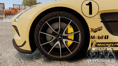 Mercedes-Benz SLS 2014 AMG Driving Academy v2.0 для GTA 4 вид сзади