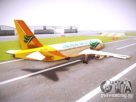 Airbus A320 Cebu Pacific Air для GTA San Andreas вид справа