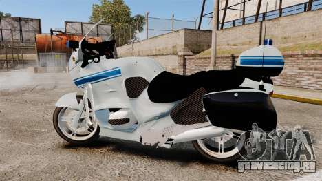BMW R1150RT Police municipale [ELS] для GTA 4 вид слева