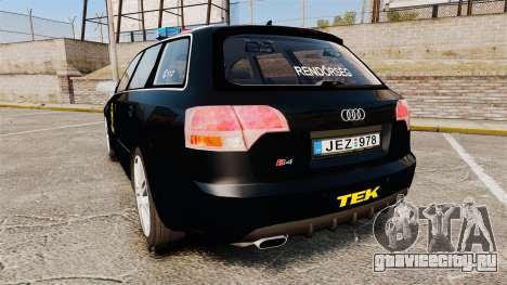 Audi S4 Avant TEK [ELS] для GTA 4 вид сзади слева