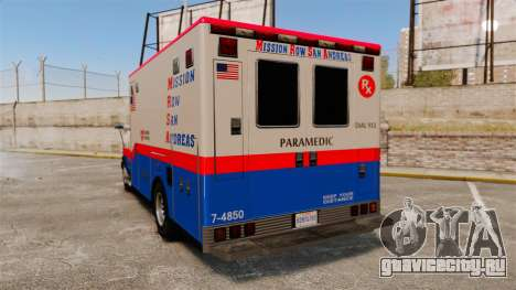 Brute MRSA Paramedic для GTA 4 вид сзади слева