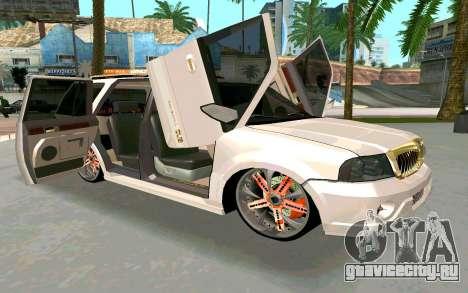 Lincoln Navigator DUB Edition для GTA San Andreas вид справа