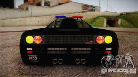 McLaren F1 Police Edition для GTA San Andreas вид сбоку