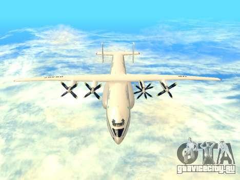 АН-22 Антей для GTA San Andreas вид изнутри