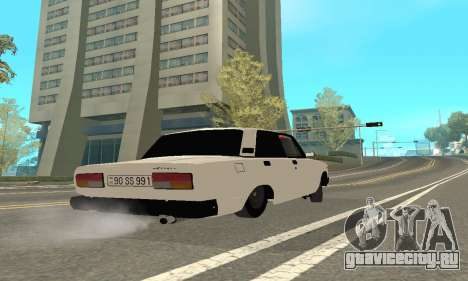 ВАЗ 2107 Avtosh для GTA San Andreas вид сзади
