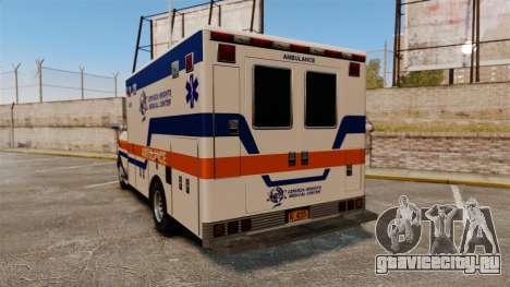 Brute CHMC Ambulance для GTA 4 вид сзади слева