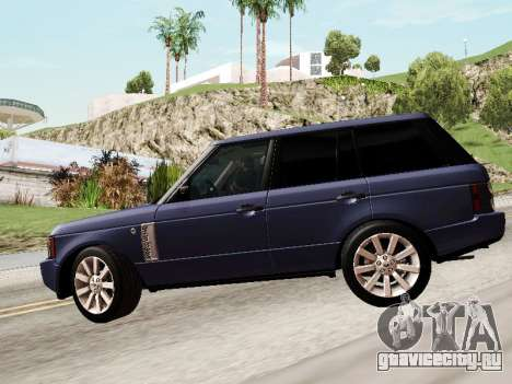 Land Rover Supercharged Stock 2010 V2.0 для GTA San Andreas вид сверху