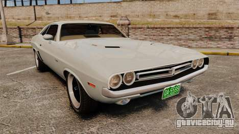 Dodge Challenger 1971 Vanishing Point для GTA 4