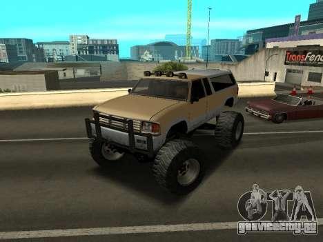 Новый Monster для GTA San Andreas вид слева