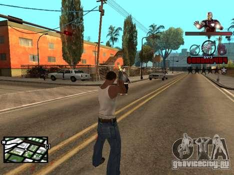 C-HUD Железный человек для GTA San Andreas четвёртый скриншот