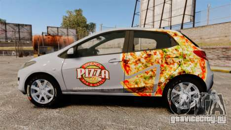 Mazda 2 Pizza Delivery 2011 для GTA 4 вид слева