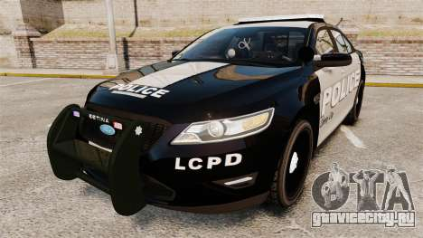 Ford Taurus LCPD Interceptor 2011 [ELS] для GTA 4