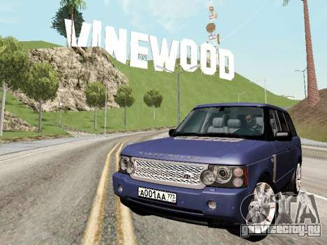 Land Rover Supercharged Stock 2010 V2.0 для GTA San Andreas вид сбоку