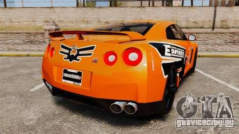 Nissan GT-R 2012 Black Edition NFS Underground для GTA 4 вид сзади слева