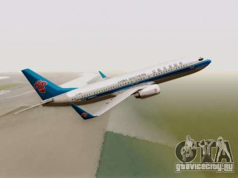 China Southern Airlines Boeing 737-800 для GTA San Andreas вид сзади