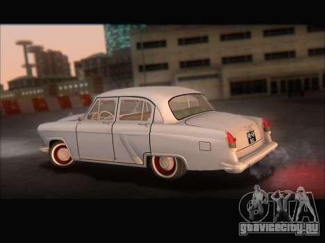 ГАЗ 21 для GTA San Andreas вид изнутри