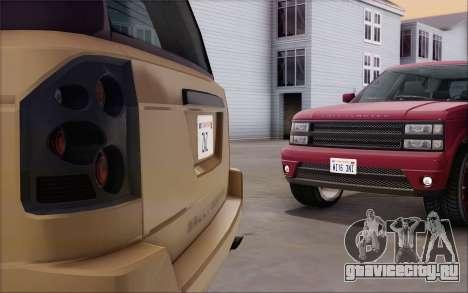Gallivanter Baller из GTA V для GTA San Andreas вид сзади