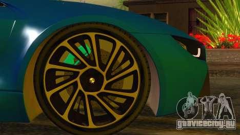 BMW I8 2013 для GTA San Andreas вид сзади слева