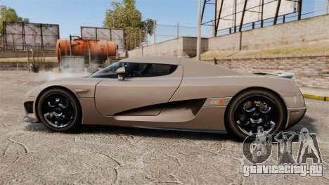 Koenigsegg CCX для GTA 4 вид слева
