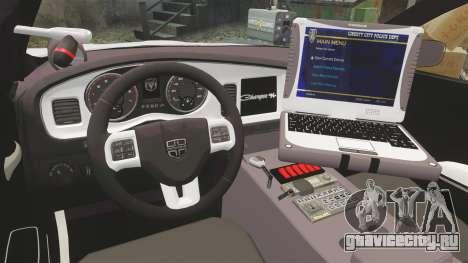 Dodge Charger 2013 LCPD [ELS] для GTA 4 вид сзади