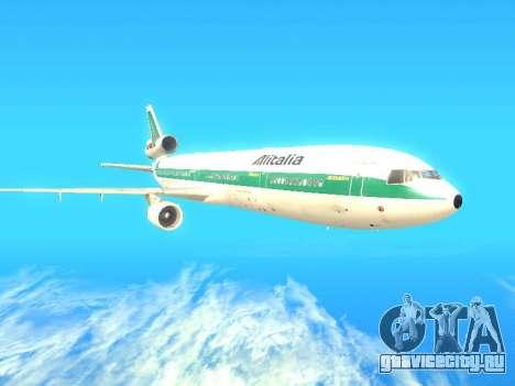 McDonnell Douglas MD-11 Alitalia для GTA San Andreas вид сзади слева