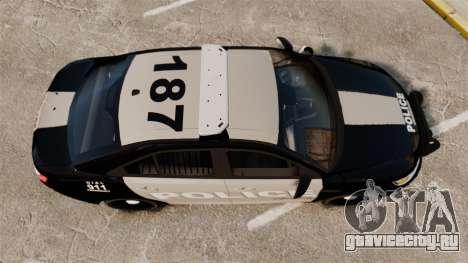 Ford Taurus LCPD Interceptor 2011 [ELS] для GTA 4 вид справа