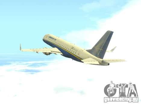 Embraer 175 HOUSE для GTA San Andreas вид сзади
