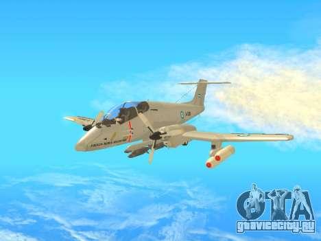 FMA IA-58 Pucara для GTA San Andreas вид слева