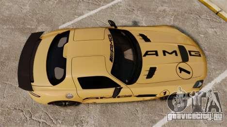 Mercedes-Benz SLS 2014 AMG Driving Academy v2.0 для GTA 4 вид справа