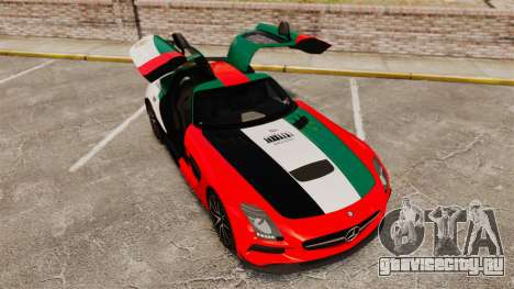 Mercedes-Benz SLS 2014 AMG UAE Theme для GTA 4 вид сверху