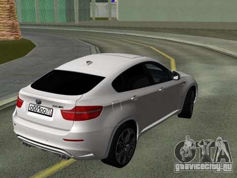 BMW X6M 2010 для GTA San Andreas вид изнутри