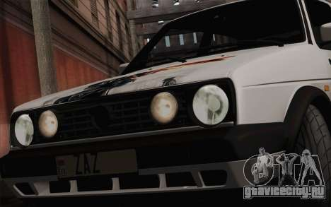 Volkswagen Golf 2 для GTA San Andreas вид сзади