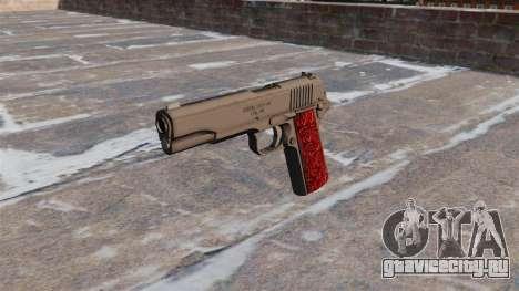 Пистолет Colt 1911 Chrome для GTA 4 третий скриншот