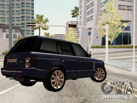 Land Rover Supercharged Stock 2010 V2.0 для GTA San Andreas вид снизу
