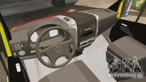 Mercedes-Benz Sprinter Finnish Ambulance [ELS] для GTA 4 вид сзади