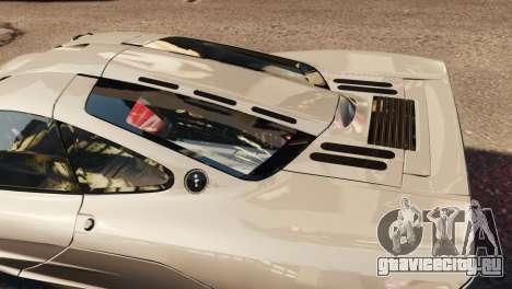 McLaren F1 XP5 для GTA 4 вид изнутри