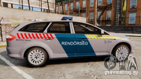 Ford Mondeo Hungarian Police [ELS] для GTA 4 вид слева