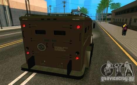 GTA V Police Riot для GTA San Andreas вид слева