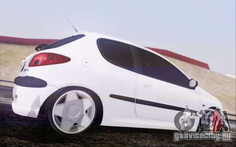 Peugeot 206 Mehmet ALAN для GTA San Andreas вид слева