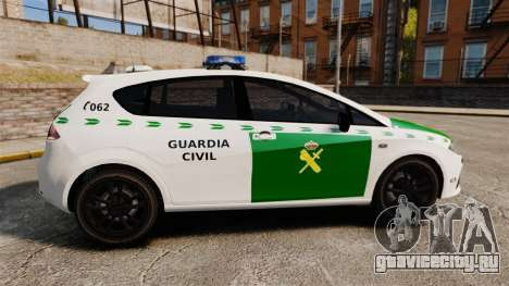 Seat Cupra Guardia Civil [ELS] для GTA 4 вид слева
