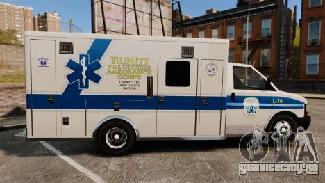 Brute Speedo TEMS Ambulance [ELS] для GTA 4 вид слева