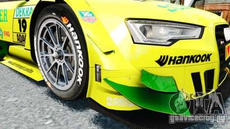 Audi RS5 DTM для GTA 4 вид изнутри