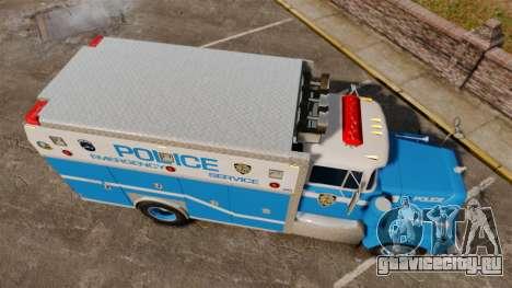 Mack R Bronx 1993 NYPD Emergency Service для GTA 4 вид справа