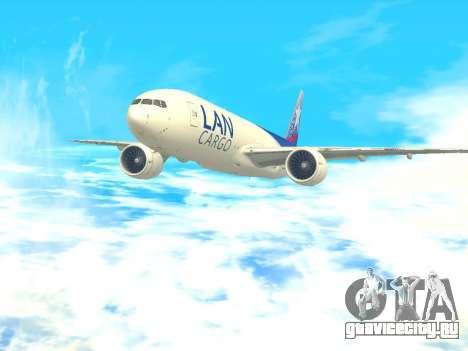 Boeing 777 LAN Cargo для GTA San Andreas вид сзади слева