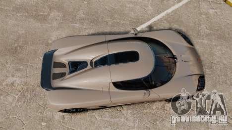 Koenigsegg CCX для GTA 4 вид справа