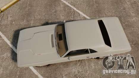 Dodge Challenger 1971 Vanishing Point для GTA 4 вид справа