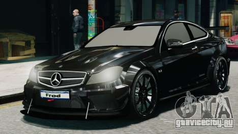 Mercedes-Benz C63 AMG Black Series 2012 для GTA 4