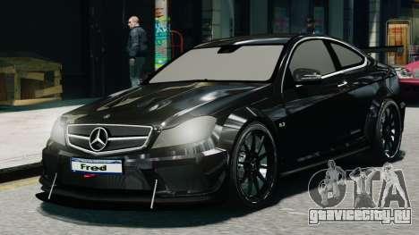 Mercedes-Benz C63 AMG Black Series 2012 для GTA 4