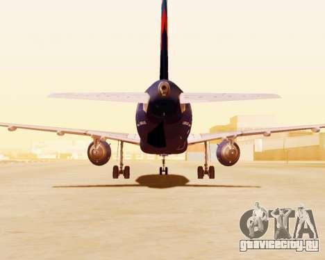 Airbus A320-200 Аэрофлот для GTA San Andreas вид сбоку